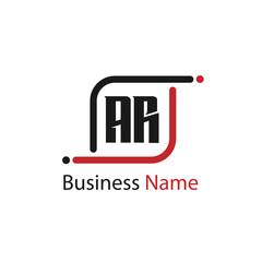 Initial Letter AR Logo Template Design