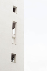 Minimalist architecture showing windows and blank space