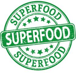 green superfood round textured rubber stamp
