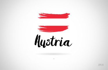austria country flag concept with grunge design icon logo Fototapete
