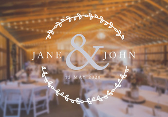 Charming Wedding Titles Set