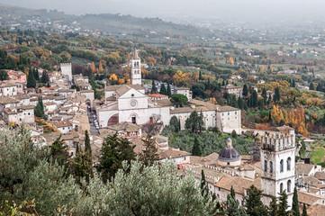 Veduta panoramica di Assisi in Umbria