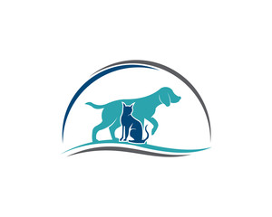 Pets Vector Logo Template this logo could be use as logo of pet shop, pet clinic, or others