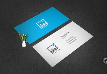 Blue Business Card Layout