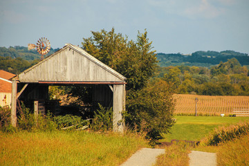 old tractor shed
