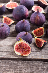 Fresh autumn fruit figs