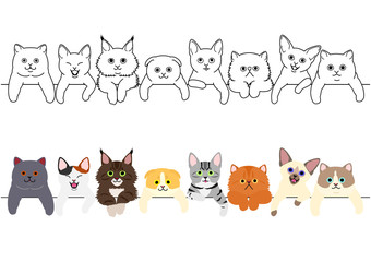 cute kitties border set