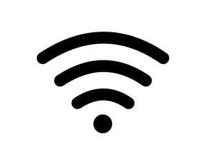 black wifi image vector icon logo symbol