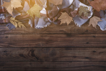 Autumn vintage background