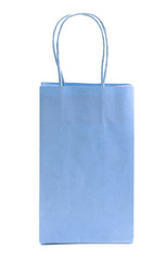 Single Blue Giftbag on a White Background