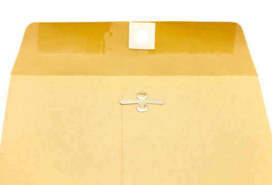 Simple Manilla Envelope on a White Background