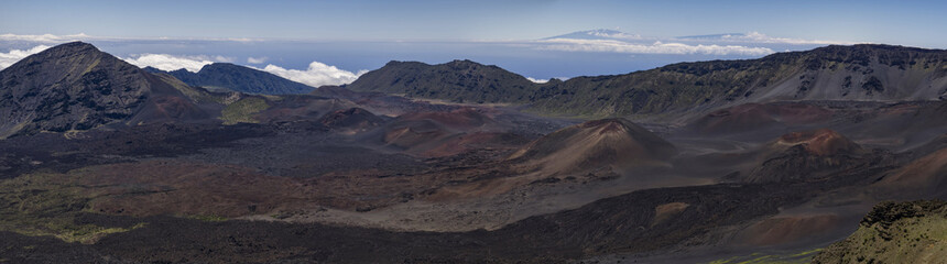 Inside of Maui volcano crater