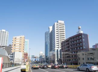 国道1号線の桜田通りの風景(東京都港区)