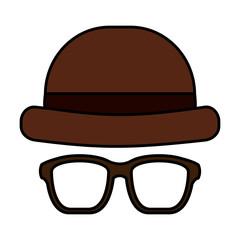 classic hat and glasses fashion men