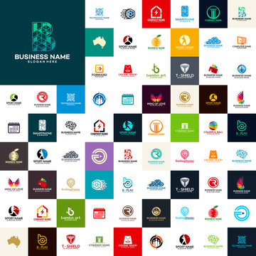 Great Mega collection logo Inspiration, Modern Iconic Business logo designs template