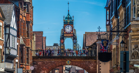 Eastgate and Eastgate Clock, Chester, UK