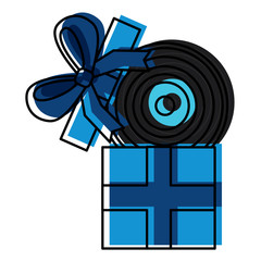 gift box with vinyl disc surprise