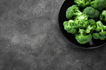 Broccoli. Fresh broccoli on plate
