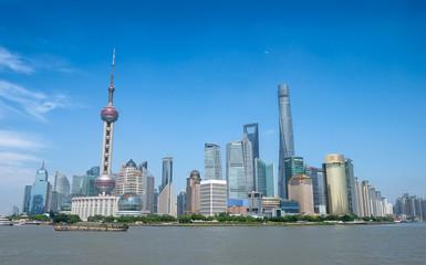 Wall Murals Shanghai Shanghai city skyline, Panoramic view of shanghai city