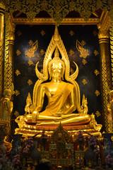 Phra Buddha Chinnarat, Buddha statue in Wat Phra Sri Rattana Mahathat Temple, Phitsanulok in Thailand.