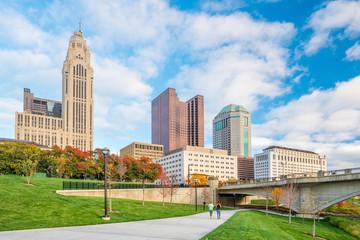 Fotomurales - View of downtown Columbus Ohio Skyline