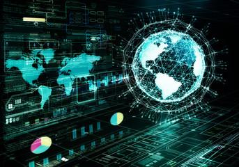 Wall Mural - internet big data concept