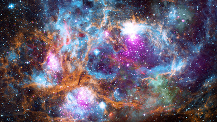 Science art - nebula and galaxy. Elements of this image furnished by NASA.
