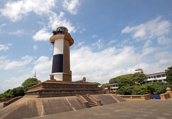 Old Lighthouse beacon at the Galle Face in Colombo Sri Lanka Asia