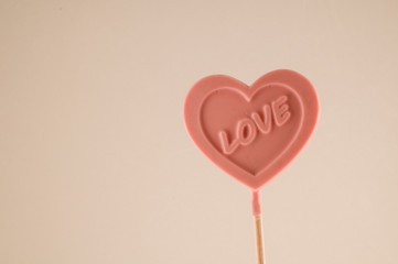 Pink Lollipop heart