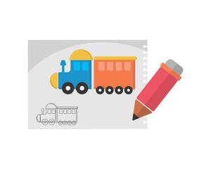 kids toy image vector icon logo