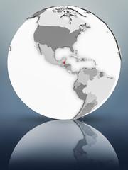Belize on political globe