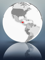 Honduras on political globe