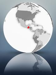 Guatemala on political globe