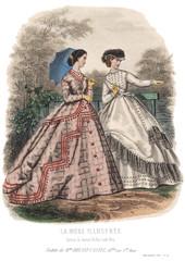 Gravure La Mode Illustrée 1865 34