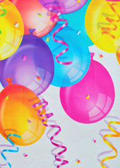 background balloons carnival birthday party