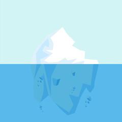 Underwater view of big  Arctic Iceberg