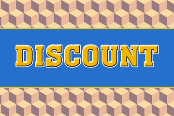 discount Logo banner on abtract texture