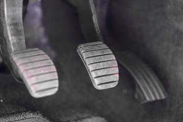 Car pedal block close up