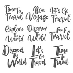 Hand drawn lettering isolated on white background