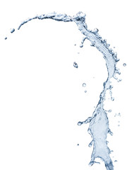 Water splash isolated on White background this has clipping path.