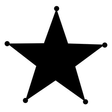 sheriff star icon on white background. flat style. sheriff star sign. sheriff star icon for your web site design, logo, app, UI.