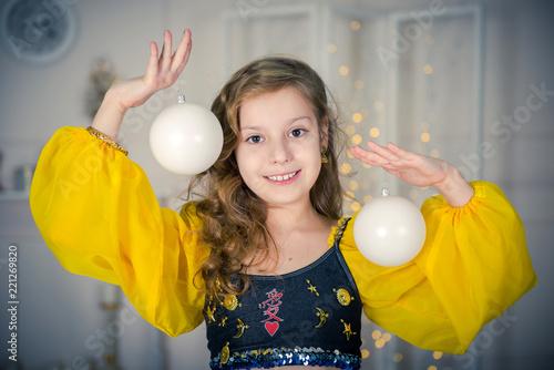 aba0278b1372 Portrait of smiling girl dancer in studio. dancer girl. Beautiful ...