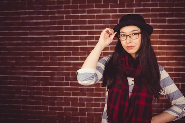 Attractive hipster smiling at the camera
