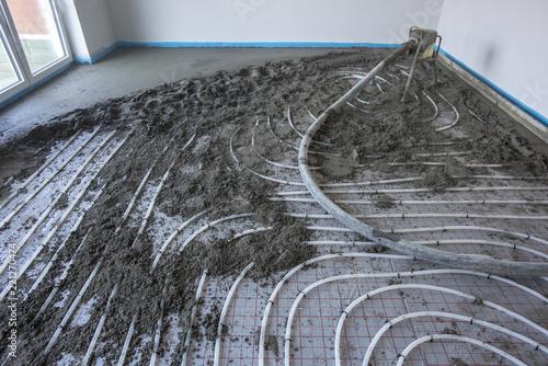 Fußboden Estrich Verlegen ~ Renovierung der gartenlaube teil fußboden mit verlegeplatten