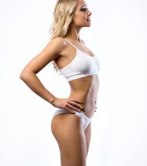 Beautiful slim woman