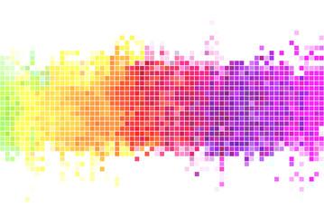 Colorful pixels background illustration