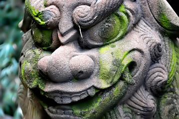 日本 古風な狛犬