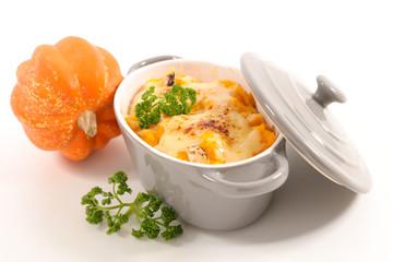 pumpkin gratin with cheese