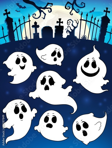 Halloween Image With Ghosts Theme 5