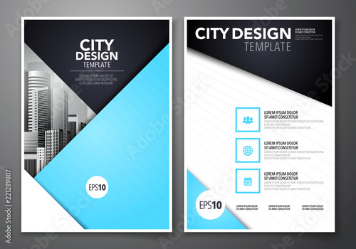 Vector Ilration Set Of Minimal Simple Business Brochure Flyer Design A4 Template Background For Annual Report